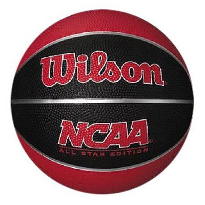 NCAA Mini Rubber Red and Black Basketball