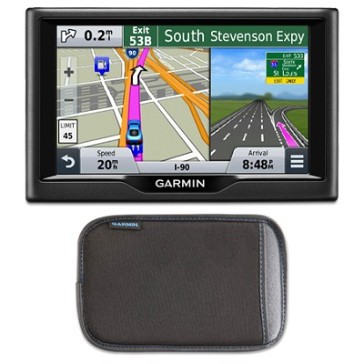 nuvi 57 5.0`-inch Essential Series 2015 GPS Navigation System Case Bundle