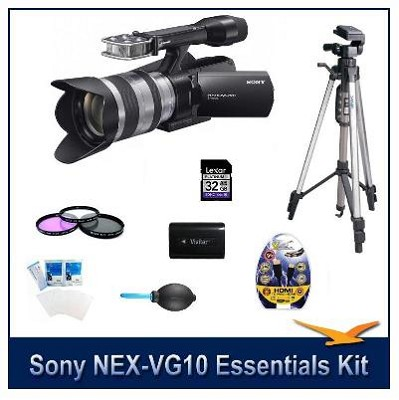 NEX-VG10 HD Interchangeable Lens Camcorder w/ 18-200mm Lens and Essentials Kit