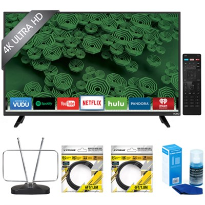 D40u-D1 D-Series 40 Inch HD Full-Array LED Smart TV w/ Accessories Bundle