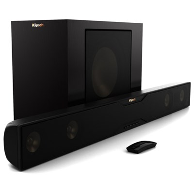 R-20B Bluetooth Soundbar with Wireless Subwoofer (Satin Black)