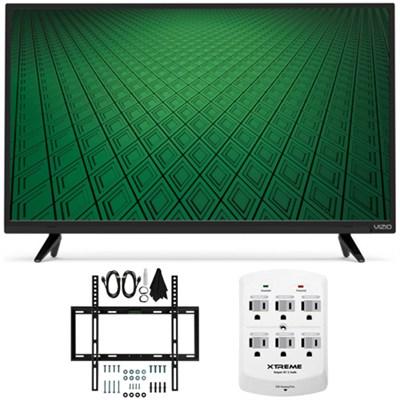 D-Series D32hn-D0 32` Class Full-Array LED HD TV Slim Flat Wall Mount Bundle