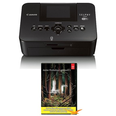 SELPHY CP910 Black Wireless Compact Photo Printer with Photoshop Lightroom 5