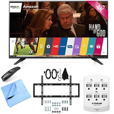 43UF7600 - 43-Inch 2160p 120Hz 4K UHD Smart LED TV w/ WebOS Mount/Hook-Up Bundle
