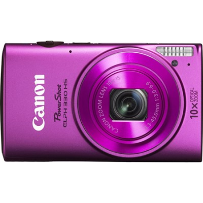 Powershot ELPH 330 HS Pink 12.1MP Digital Camera with 10x Opt. Zoom and Wi-Fi