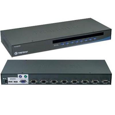 8-port USB KVM Swtc.Rack Mount