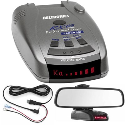 RX65 Red Professional Series Radar/Laser Detector with Accessories Bundle (Blue)