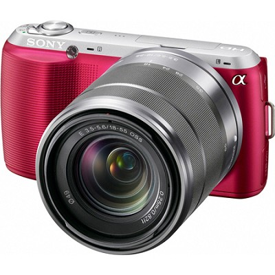 Alpha NEX-C3 Interchangeable Lens Pink Digital Camera w/ 18-55mm Lens