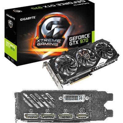 GeForce GTX 970 4GB GDDR5 OC Edition Graphics Card - GV-N970XTREME-4GD