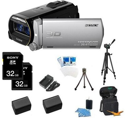 HDR-TD20V HD 3D 64GB Camcorder with Geotagging Bundle