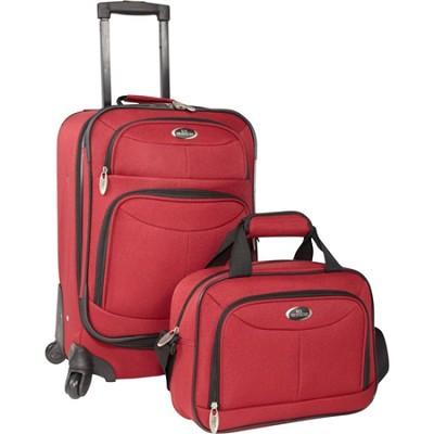 U.S. Traveler Fashion 2-piece Carry-on Luggage Set, Maroon