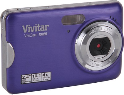 ViviCam X029 10.1 MP HD Digital Camera (Grape)