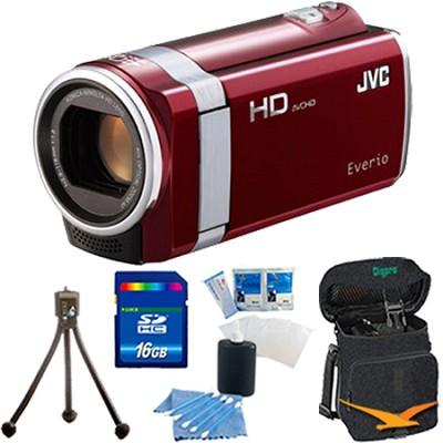 GZ-HM450US Full HD Memory Camcorder (Red) - 16 GB Memory Bundle