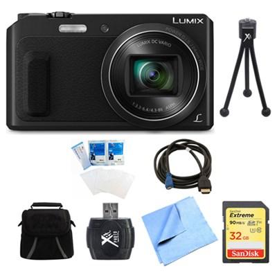 LUMIX DMC-ZS45 20X Zoom Black Digital Camera 16GB Bundle