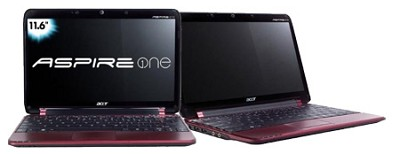 Aspire one 11.6` Netbook PC - Red (AO751H-1211)