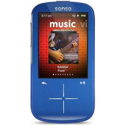 Sansa Fuze+ 8GB Blue MP3 MP4 Video Music Player w/ FM Radio