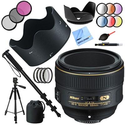 AF-S NIKKOR 58mm f/1.4G Lens with 72mm Filter Sets Bundle