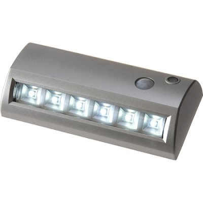 6 LED Motion Activated Sensor Path Light - Silver