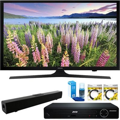 50` Full HD 1080p LED HDTV 2015 + HDMI DVD Player & Sound Bar Bundle