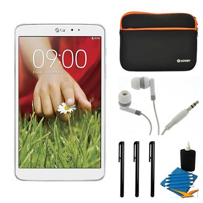 G Pad V 500 16GB 8.3` WiFi White Tablet and Case Bundle