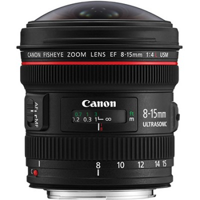 EF 8-15mm f/4L Fisheye USM Ultra-Wide Zoom Lens for Canon EOS SLR Cameras