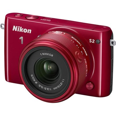 1 S2 Mirrorless 14.2MP Digital Camera with 11-27.5mm Lens (Red) Refurbished