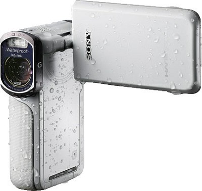 HDR-GW77V/W HD 20.4 MP Waterproof, Shockproof, Dustproof Camcorder (White)