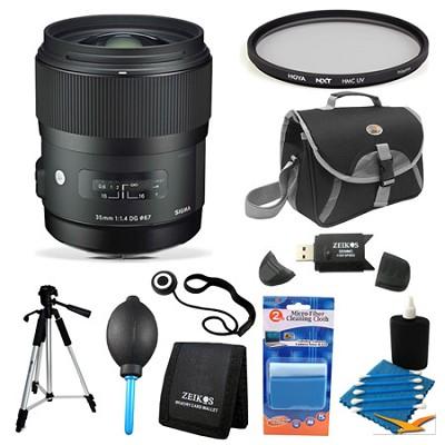 AF 35mm F1.4 DG DG HSM Lens for Nikon Filter Bundle