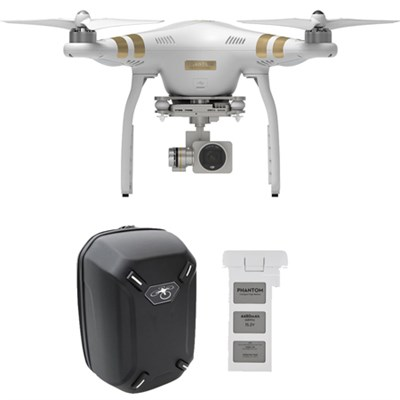 Phantom 3 Professional Quadcopter Drone w/ 4K Camera With Extra Battery Backpack