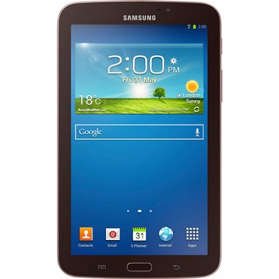 Galaxy Tab 3 7.0` Gold-Brown 8GB Tablet