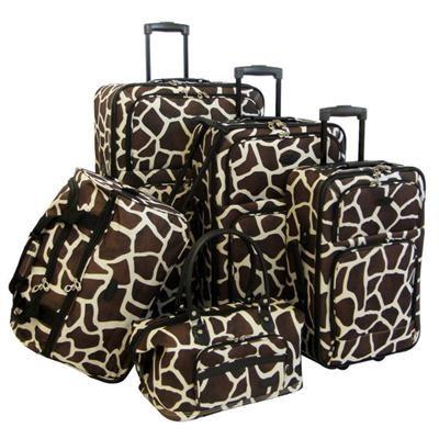 AF 5P Luggage Set Giraffe Brn