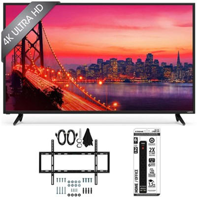 E55u-D0 - 55-Inch 4K Ultra HD SmartCast LED TV Home Theater w/ Slim Mount Bundle