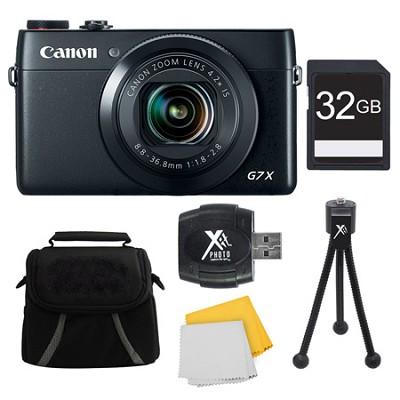 PowerShot G7 X Digital Camera 32GB Bundle