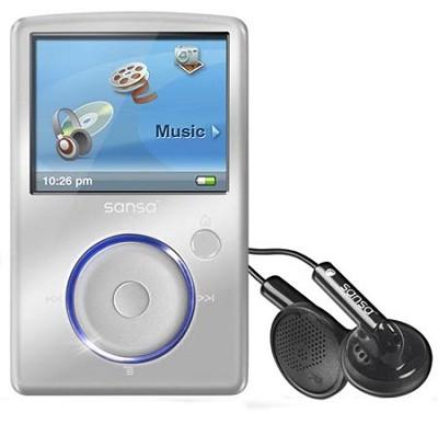 Sansa Fuze 8GB MP3 Player - Silver