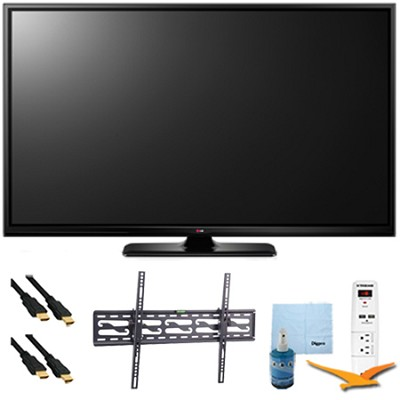 60PB6900 - 60` Plasma 1080p 600Hz Smart 3D HDTV Plus Tilt Mount & Hook-Up Bundle