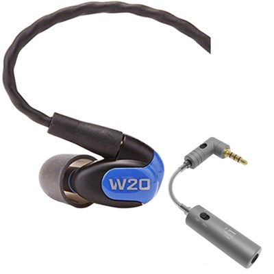 W20 Dual Driver Noise Isolating Earphones In-Ear Monitors w/ iFi Audio iEMATCH