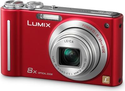DMC-ZR1R LUMIX 12.1 MP 8x Zoom Digital Camera (Red)