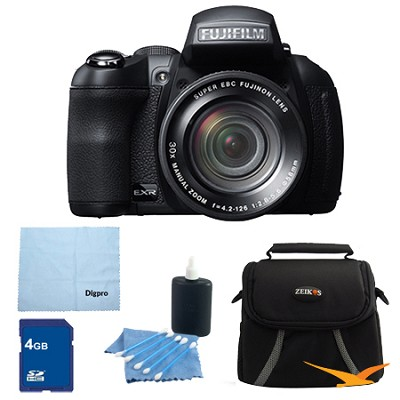 FinePix HS30EXR 16MP BSI EXR CMOS Digital Camera 4 GB Bundle