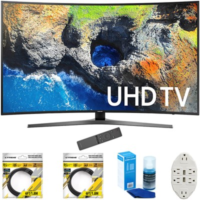 54.6` Curved 4K Ultra HD Smart LED TV 2017 Model with Cleaning Bundle