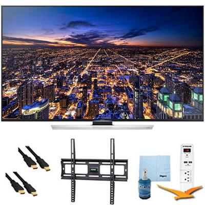 UN65HU8550 - 65 inch 4K 3D Smart Ultra HDTV Plus Mount & Hook-Up Bundle