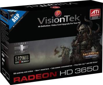Radeon 3650 AGP 512MB DDR2  Model # 900280
