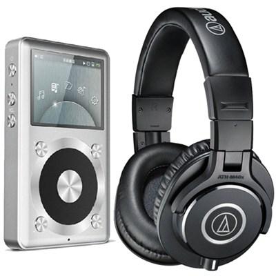 ATH-M40x Professional Headphones - FiiO X1 Hi Res LossLess Music Player Bundle
