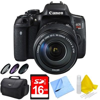 EOS Rebel T6i Digital SLR Camera with 18-135mm STM Lens 16GB Bundle