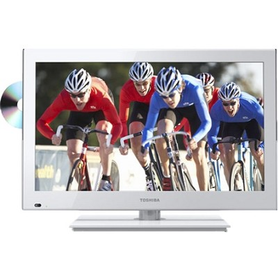 24-Inch 1080p 60Hz LED DVD Combo (White)small dent  - OPEN BOX