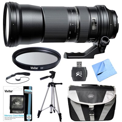SP 150-600mm F/5-6.3 Di VC USD Zoom Lens All Inclusive Bundle for Canon