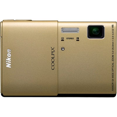 COOLPIX S100 16MP Gold Compact Digital Camera w/ 3.5 inch Touch Screen