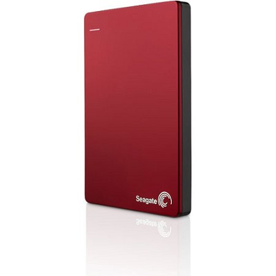 Backup Plus 1TB Portable External Hard Drive with Mobile Device Backup Red