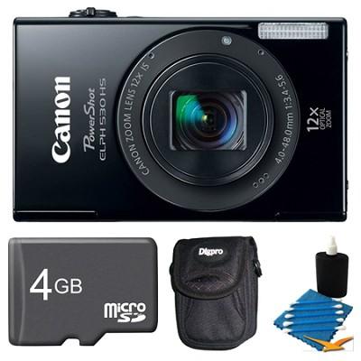 PowerShot ELPH 530 HS Black Camera 4GB Bundle