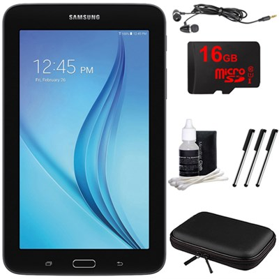 Galaxy Tab E Lite 7.0` 8GB (Wi-Fi) Black 16GB microSD Card Bundle