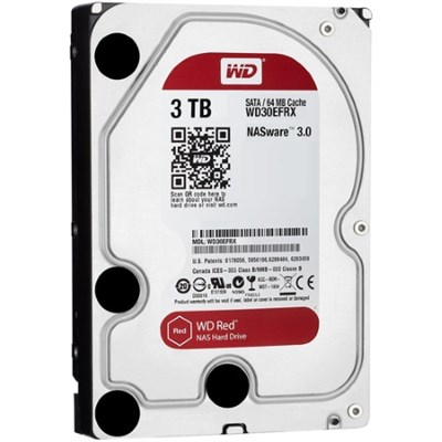 3TB Red 5400 rpm SATA III 3.5` Internal NAS HDD (WD30EFRX)
